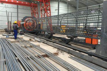 gemaak in china eenvoudige werking duursame en stewige gehalteversekering staal rebar kooi sweismasjien en versterkende kooi maak